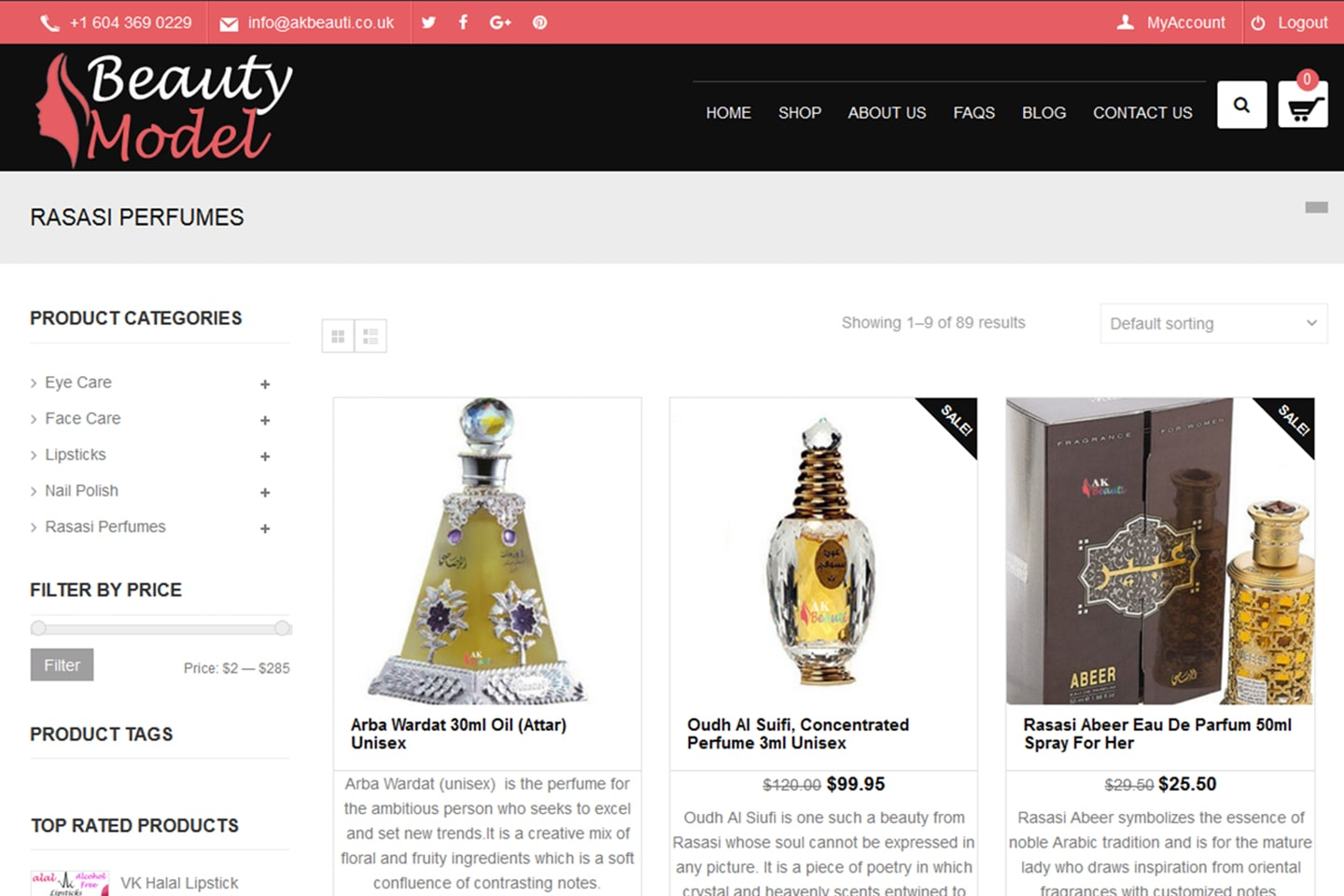 eCommerce Web Design Project2
