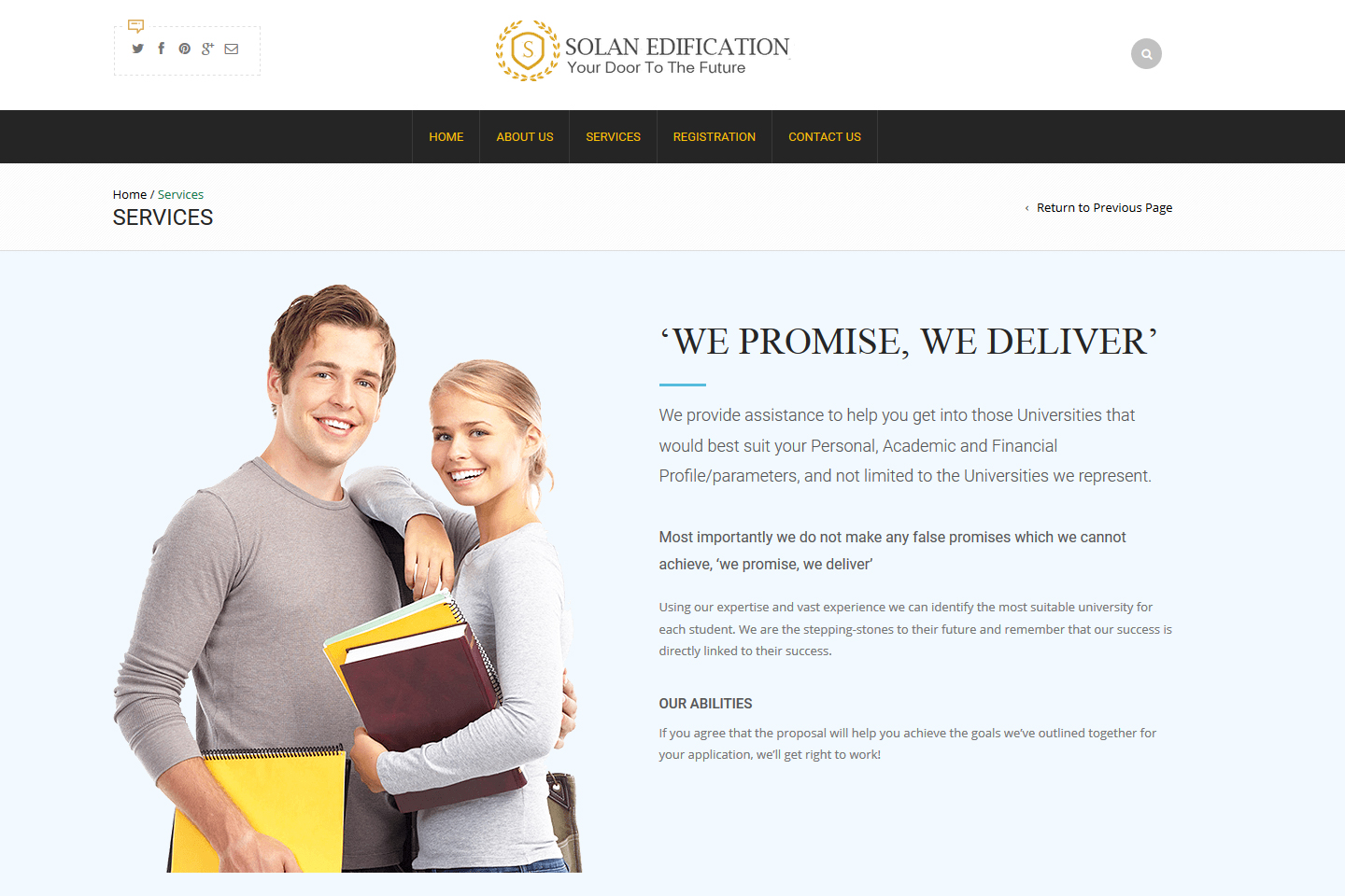 Solan Edification Services Page